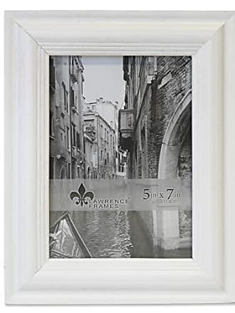 Lawrence Frames Lawrence Woods Picture Frame, 5x7, White