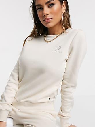 Converse Cremefarbiges Sweatshirt mit Logo aus Chevronstreifen und Stern-Cremeweiß