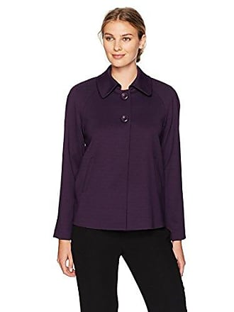 Kasper Womens Ponte 2 Button Collar Jacket, BlackBerry 6