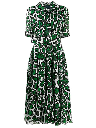 Samantha Sung leopard print shirt dress - Green