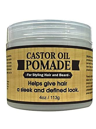 Okay | Mens Castor Oil Beard and Hair Pomade | For All Hair Types & Textures | All Day Hold | Sleek, Defined Look | Free of Silicone & Paraben | 2 oz