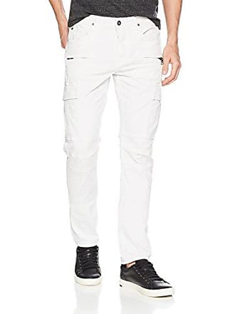 Hudson Mens Greyson Slim Fit Cargo Biker Pant, Off Off White, 36