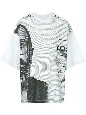 Yoshiokubo oversized graphic print T-shirt - Blue