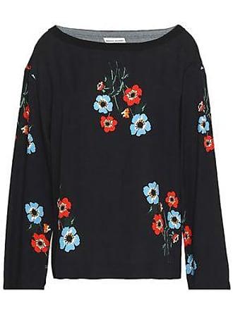 Sonia Rykiel Sonia Rykiel Woman Floral-print Crepe Top Black Size 38