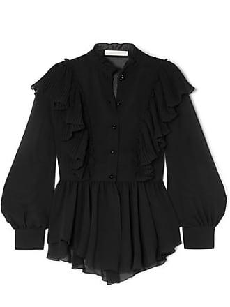 See By Chloé Ruffled Chiffon Blouse - Black