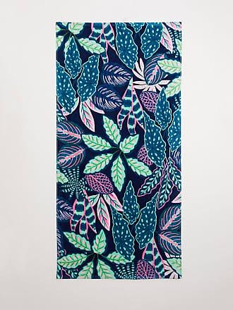 Sass & Belle beach towel in leaf print-Multi