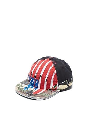 e351a1f4f14f16 VETEMENTS American Flag Appliqué Cotton Baseball Cap - Womens - Red