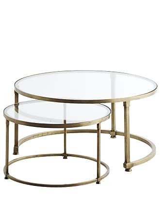 Madam Stoltz Runt satsbord i glas mässing, madam stoltz