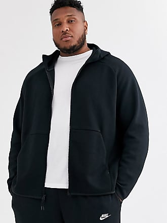 felpa nike uomo nera con zip e cappuccio