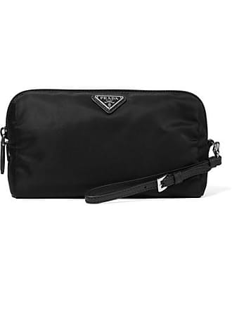 bc73a6c2a7 Prada Textured Leather-trimmed Shell Cosmetics Case - Black