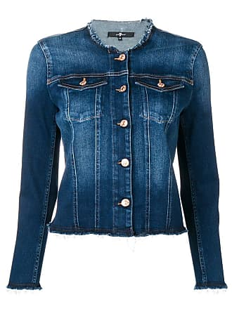 7 For All Mankind round neck jacket - Blue