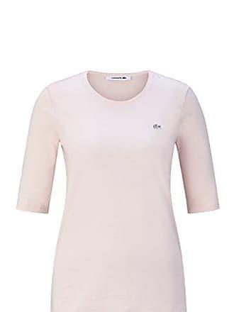 ffcaf8ba4210 Lacoste TF8065 Klassisches Damen Basic T-Shirt, Rundhals, 3 4 Arm,
