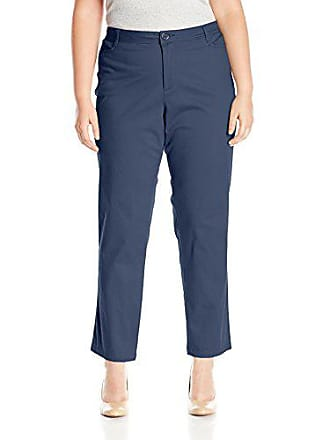 a8c70d07a1c6 Riders by Lee Indigo Womens Plus-Size Straight Leg Casual Twill Pant, Dress  Blues