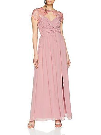 749ecfe81e Little Mistress Blush Wrap Maxi Dress with Lace Neckline Vestito Elegante,  Rosa (Pink 001