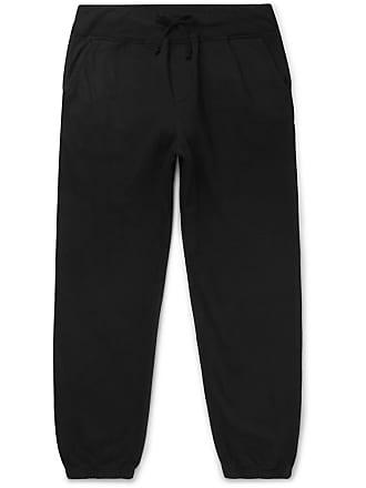 SAVE KHAKI UNITED Fleece-back Supima Cotton-jersey Sweatpants - Black