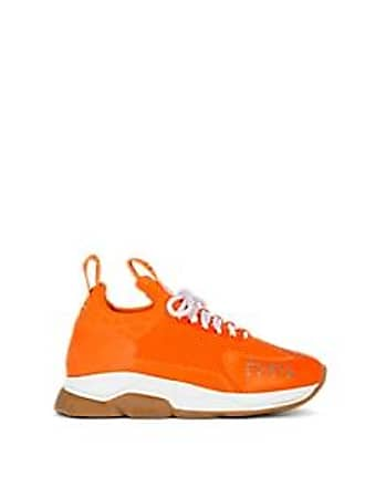 Versace Womens Chain Reaction Sneakers - Orange Size 7