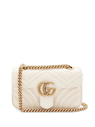 9de63c1d8 Gucci Gg Marmont Mini Quilted Leather Cross Body Bag - Womens - White