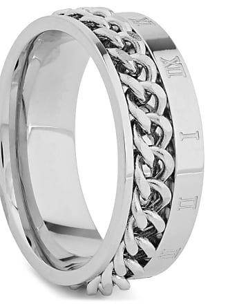 Fort Tempus Silverfärgad Ring med Inlagd Kedja och Romerska Siffror dc2827f40da0f