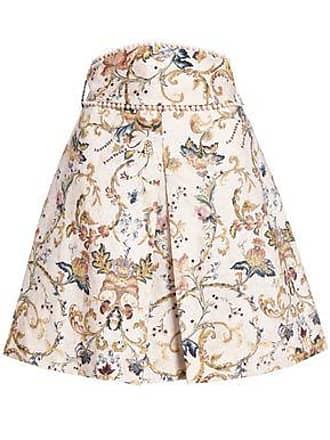 31dbd8fcbd0d Zimmermann Zimmermann Woman Pleated Pompom-embellished Linen Mini Skirt  Pastel Pink Size 00