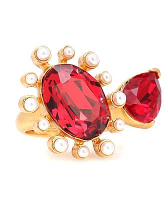 Oscar De La Renta Crystal-embellished ring