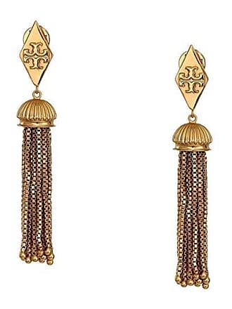 e70e2ca85 Tory Burch Box Chain Tassel Earrings (Vintage Brass) Earring