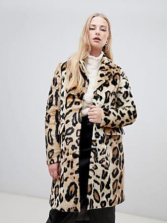Vero Moda leopard print faux fur coat - Brown