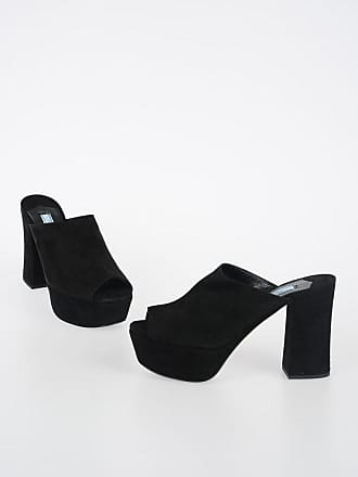 Prada 11cm Leather Suede Mules size 38