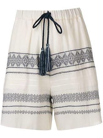 Zeus + Dione Paxi embroidered shorts - Neutrals