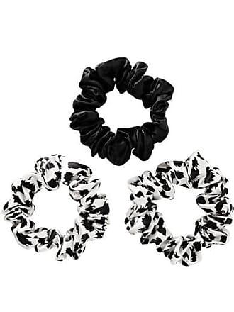 Slip Set Of Three Large Silk Hair Ties - Black