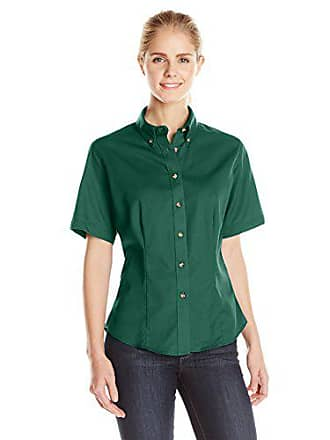 Red Kap Lee Womens Meridian Performance Twill Plus Size Short-Sleeve Shirt, Emerald, XX-Large