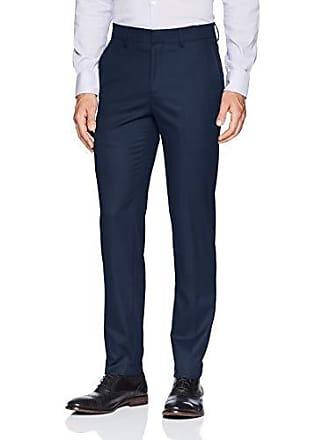 Haggar Mens J.m Premium Check Slim Fit Suit Separate Pant, Blue, 36Wx30L