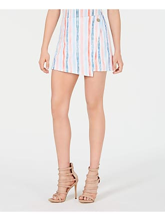 xoxo Womens White Striped Mini Faux Wrap Cocktail Skort Juniors Size: XL