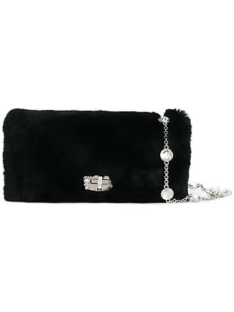 Miu Miu crystal strap rabbit fur bag - Black a553ced4f0b58