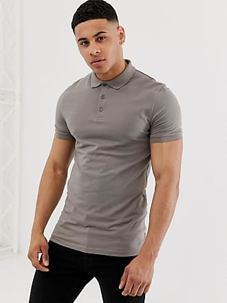 065ad222 Asos muscle fit with stretch polo in jersey in beige - Beige
