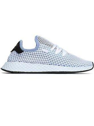 half off 97d55 82948 adidas Adidas Originals Woman Deerupt Runner Stretch-knit Mesh Sneakers  Light Blue Size 4
