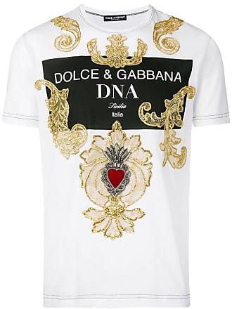Dolce & Gabbana Camiseta com bordado barroco - Branco