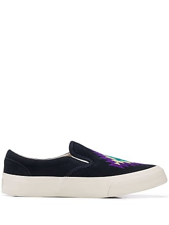 Ymc You Must Create Tênis slip on com bordado - Azul