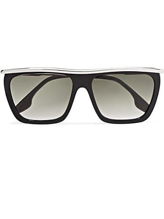 1618395552a1 Victoria Beckham D-frame Acetate And Silver-tone Sunglasses - Black