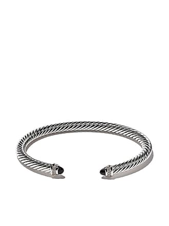 David Yurman Cable Classics onyx and diamond cuff bracelet - Ssabodi