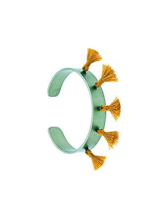 Eye M By Ileana Makri Bracelete com detalhes de tassel - Verde