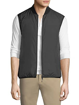 Theory Mens Greene Zip-Front Puffer Vest