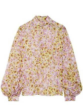 Giambattista Valli Giambattista Valli Woman Floral-print Silk-georgette Blouse Baby Pink Size 46