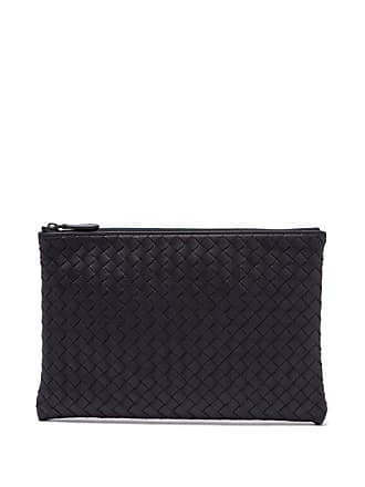 Bottega Veneta Intrecciato Small Leather Pouch - Mens - Navy