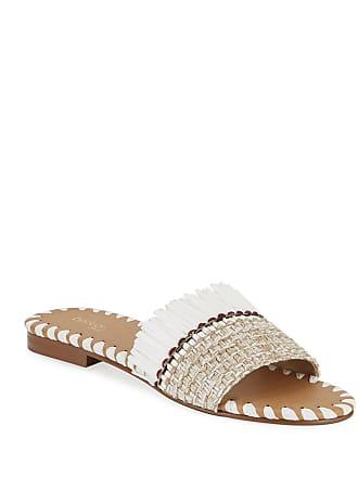 Botkier Bailee Woven Raffia Slide Sandals