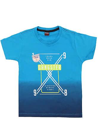 Gangster Camiseta Gangster Menino Frontal Azul