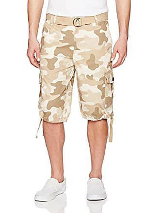 9711ae3109 Southpole Mens Belted Ripstop Basic Cargo Short with Washing and 13.5 Inch  Length All Season,