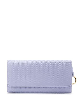 Zanellato wave-textured foldover wallet - Purple