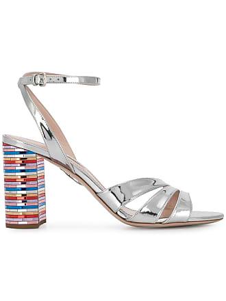 Miu Miu Sandali con tacco a contrasto - Color Argento 26d8a0615e0