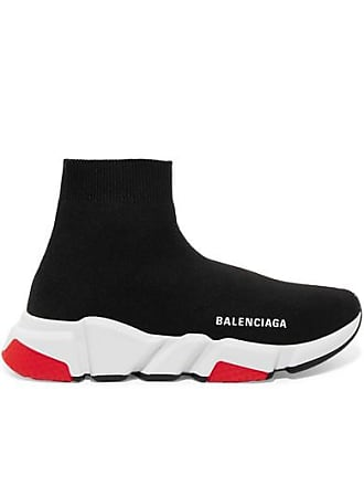 05e0eacfec3 Balenciaga Speed Stretch-knit High-top Sneakers - Black