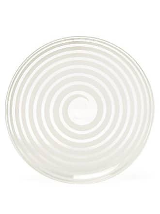 Yali Glass A Nastro Glass Side Plate - White
